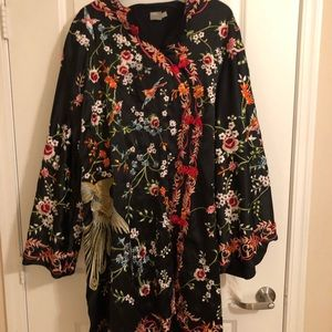 Full embroidered plus size dress
